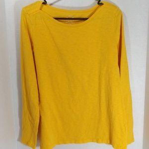 J Crew Artist T Women's Yellow Long Sleeve Top XL